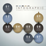 Circle label  flow chart infographic elements Royalty Free Stock Photography