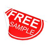 Circle label free sample Royalty Free Stock Photo