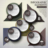 Circle label infographic elements Royalty Free Stock Photos