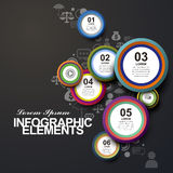 Circle label infographic elements Stock Images