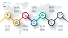 Circle label infographics stock photography