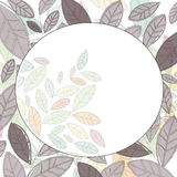 Circle Label with leaves Royalty Free Stock Photography