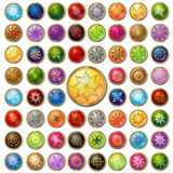 Circle label symbol set color button web Royalty Free Stock Images