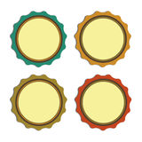 Circle label vintage, promotions or qualities Stock Photos