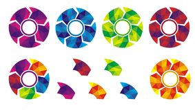 Circle Labels or tag with colorful shape Stock Photography