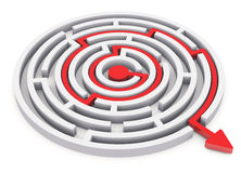 Circle labyrinth Stock Image