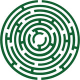 Circle labyrinth Royalty Free Stock Image