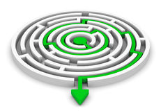 Circle labyrinth Royalty Free Stock Photography
