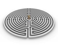 Circle labyrinth dollar Stock Photography