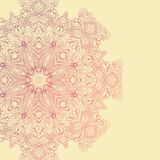 Circle lace hand-drawn abstract background. Ornament card. Ornamental round pattern Royalty Free Stock Photo