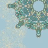 Circle lace hand-drawn abstract background. Ornament card. Ornamental round pattern Royalty Free Stock Photos