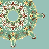 Circle lace hand-drawn abstract background. Ornament card. Ornamental round pattern Royalty Free Stock Image