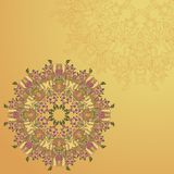 Circle lace hand-drawn ornament card Royalty Free Stock Photography