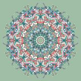 Circle lace organic ornament Royalty Free Stock Images