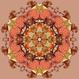 Circle lace organic ornament Stock Image