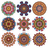 Circle lace ornament, round geometric doily Royalty Free Stock Photography