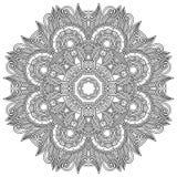 Circle lace ornament, round ornamental geometric Stock Image