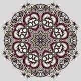 Circle lace ornament, round ornamental geometric. Doily pattern Stock Photo