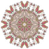 Circle lace ornament, round ornamental geometric. Circle lace ornament, round ornamental  geometric doily pattern Stock Photos