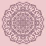 Circle lace ornament, round ornamental geometric Stock Photography