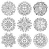 Circle lace ornament, round ornamental geometric Stock Image