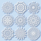 Circle lace ornament, round ornamental geometric Stock Photography