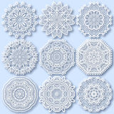 Circle lace ornament, round ornamental geometric Royalty Free Stock Photos