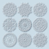 Circle lace ornament, round ornamental geometric Royalty Free Stock Image