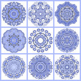 Circle lace ornament, round ornamental geometric royalty free illustration