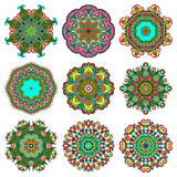 Circle lace ornament, round ornamental geometric Royalty Free Stock Photo
