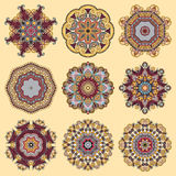 Circle lace ornament, round ornamental geometric Royalty Free Stock Photography