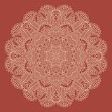 Circle lace ornament, round ornamental geometric Royalty Free Stock Images
