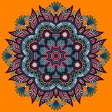 Circle lace ornament, round ornamental geometric Royalty Free Stock Photos