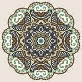 Circle lace ornament, round ornamental geometric Stock Photo