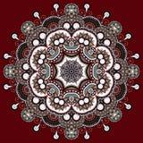 Circle lace ornament, round ornamental geometric Stock Photos