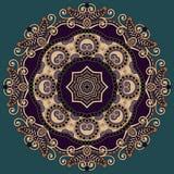 Circle lace ornament, round ornamental geometric Royalty Free Stock Image