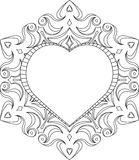 Circle lace ornament, round ornamental geometric doily pattern w Stock Photos