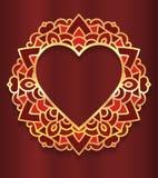 Circle lace ornament, round ornamental geometric doily pattern w Royalty Free Stock Photo