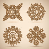 Circle lace ornament, round ornamental pattern Royalty Free Stock Photo