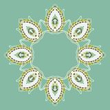 Circle lace steampunk ornament, round ornamental Royalty Free Stock Photography