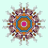 Circle lace steampunk ornament, round ornamental geometric pattern Royalty Free Stock Photo