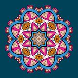 Circle lace steampunk ornament, round ornamental geometric pattern Stock Image