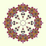 Circle lace steampunk ornament, round ornamental geometric pattern Royalty Free Stock Photography