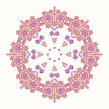 Circle lace steampunk ornament, round ornamental geometric pattern Royalty Free Stock Images