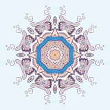 Circle lace steampunk ornament, round ornamental geometric pattern Stock Photos