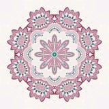Circle lace steampunk ornament, round ornamental geometric pattern Royalty Free Stock Photos