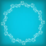 Circle Lacy Wavy Pattern Royalty Free Stock Image