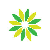 Circle leaf ecology logo Royalty Free Stock Photo