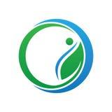 Circle leaf ecology logo Royalty Free Stock Photos