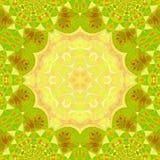 Circle leaf shape yoga mandala design with frame for copy space. Leaf shape yoga mandala design with frame for copy space vector illustration